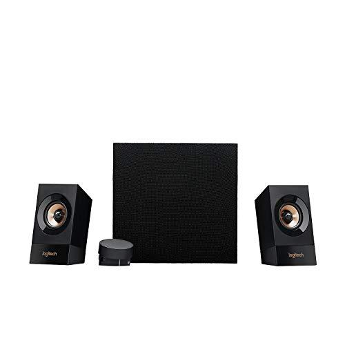 Logitech Z533 Sistema di Altoparlanti Multimediali 2.1 con Subwoofer, 120 Watt, Suono e Bassi Potenti, Ingressi Audio 3.5 mm e RCA , Presa EU/IT, PC/PS4/Xbox/TV/Smartphone/Tablet/Lettore Musicale