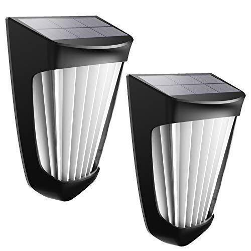 Luce Calda Decorativa Solare, Luci Del Sensore di Movimento Esterno Solare Potenziate, Applique Solari di Sicurezza Impermeabili IP54 Wireless (2pcs)
