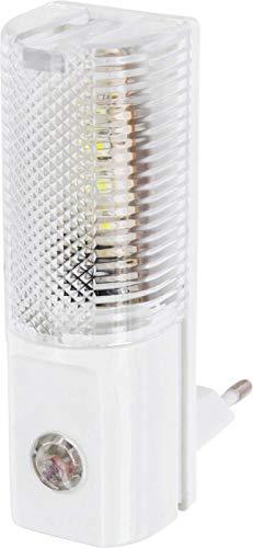 Luce notturna a LED per presa da 230 V, con sensore crepuscolare e accensione/spegnimento automatici, consumo di solo 1 W, colore: bianco freddo (6.000 K)