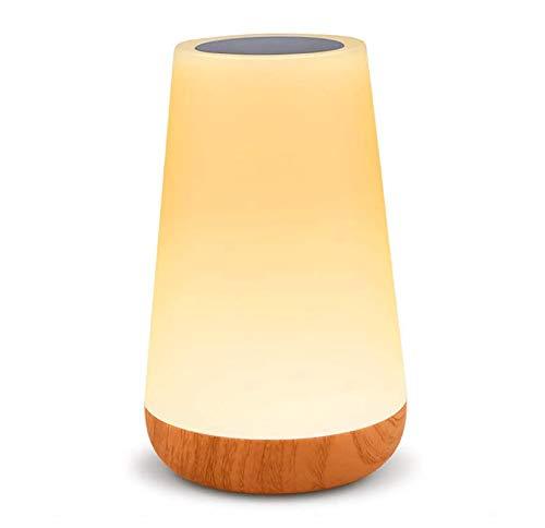 Luce Notturna Bambini, Amouhom Lampada da Comodino Colorata Lampada LED con 13 Colori Luminosità Regolabile Batteria al Litio Ricaricabile Portabile