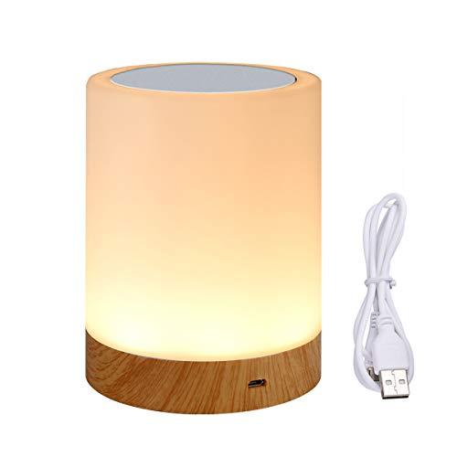 Luce notturna, lampada da comodino con sensore Smart Touch, Bajour comodino (Dimmerabile 3 livelli luce bianca calda e sei colori che cambiano RGB) Venduto da LiKe smart e spedito da Amazon.