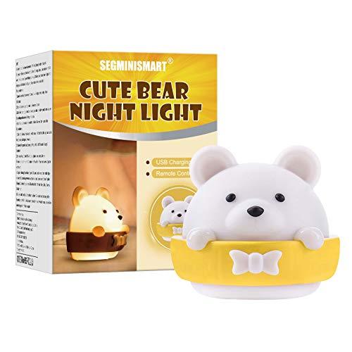 Luce Notturna LED,Luce Notte Bambini,Lampada Notturna USB di Ricarica Portatile Luce Gialla,Lampada per Bambini Per Decorazioni Camerette Letto Bambini…
