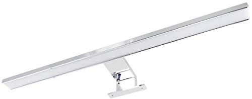 Luce per specchio LED IP44 2 in 1, da 8 W, in alluminio, 500 mm 550 lm, attacco e fissaggio a vite, bianco caldo (3000 K)