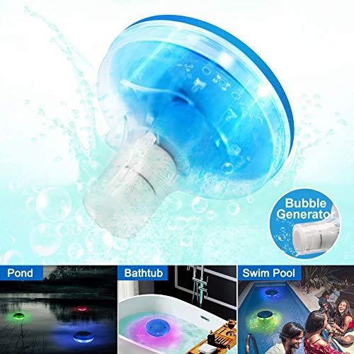 Luce Piscina, ZOTO Lampada da Bagno LED Impermeabile, LED Galleggiante Colorato per Piscina con Luci a LED Che Cambiano Colore per Vasche da Bagno, Stagni, Piscine