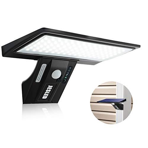 Luce Solare LED Esterno, JESLED 90 LED Lampada Solare da Esterno con Sensore di Movimento, 4 Modalità di Illuminazione Opzionale, Lampade Solare Impermeabile, Lampada Esterna per Giardino,Cortile.