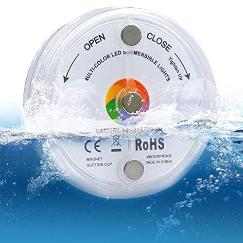 Luci a LED sommergibili con telecomando, luci a LED subacquee IP68, 13 luci a LED, 16 modalità multiple di colori per Vaso Base/Piscina/Fish Tank/Vasca Da Bagno (1PC)