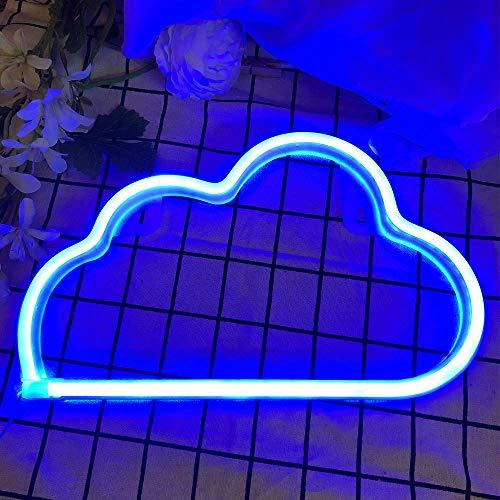 Luci al neon della nuvola Insegna luminosa Lampada da parete al neon Batteria/USB Alimentato Art Luci al neon decorative per Natale, Bar, Dedroom