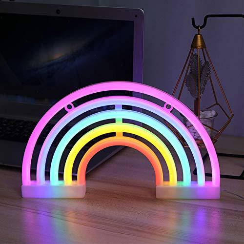 Luci al neon LED Arcobaleno Insegne al neon, Rainbow neon Sign Night Lights Utilizzato per decorare stanze dei bambini, Natale, feste di compleanno, soggiorni, regali di festa, feste di matrimonio