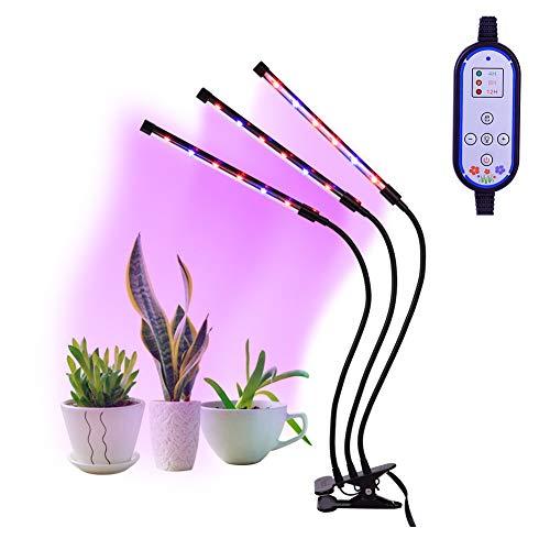 Luci per piante,LED Grow Light, Haofy Grow Light 360°Luce LED per Piante Flessibile Regolabile Impianto luci led per Giardino e Lampade a Spettro (Luce blu del lago)