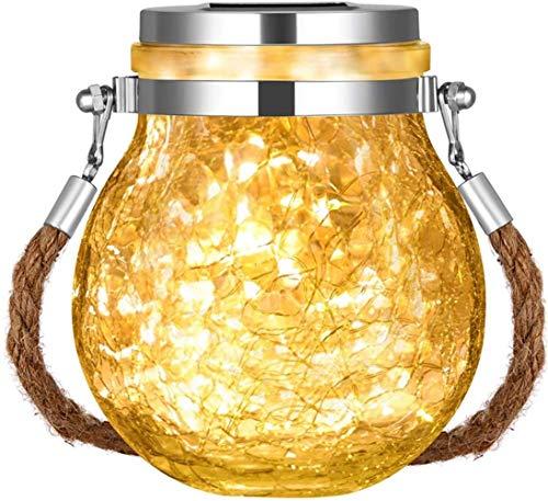 Luci Solari Giardino, Lanterna Solare,Led Lanterne da Esterno, Solari Luci Giardino Vintage Lampada Vetro Esterno Impermeabili Decorato per Esterno,Scala,Prato,Strade,Vialetto,Terrazza(bianco caldo)