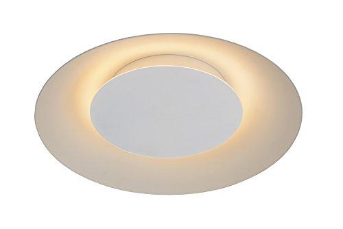Lucide foskal–Lampada da soffitto–Diametro 34,5cm–LED–1X 12W 2700K–Ottone 01, Metallo, bianco, Integriert 12 wattsW 230 voltsV