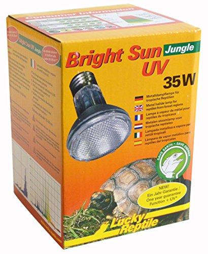 Lucky Reptile Bright Sun UV Jungle, Lampada ad alogenuri Metallici per Attacco E27a Raggi UVA e UVB