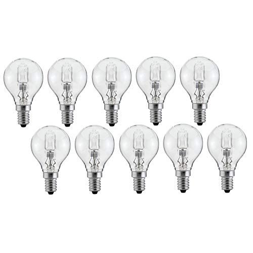 Luminizer 3090 - 10 lampadine alogene G45 E14, 42 W = 55 W, dimmerabili, luce bianca calda