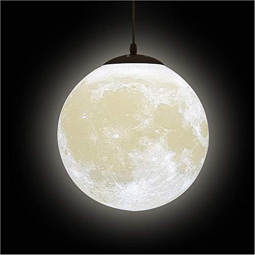 Luna 3D Stampa Lampada a Sospensione - Universo Planet da Soffitto Lanterna Creativa Ristorante Bar Casa Bambini Camera da Letto Illuminazione a LED (La lampadina non è inclusa)