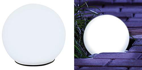 Lunartec Flares Giardino: Sfera Solare in Vetro con LED e Crepuscolo Automatico, Ø 9 cm (GUIDATO Sfera Solare)