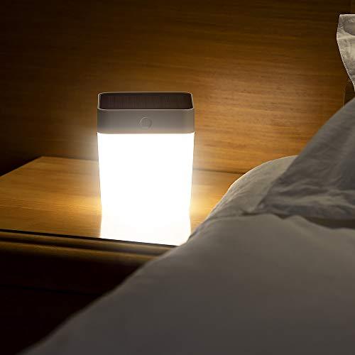 LUTEC Lampada LED da Tavolo Solare con Touch Control Portatile, Cambio Coloro RGB, Portatile e Mobile, Illuminazione Impermeabile Esterna per Terrazza, Giardino, Tenda