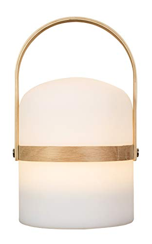 LUUK LIFESTYLE Lampada da Tavolo Design scandinavo, Luce, Lampada da Giardino a LED per Esterni, Lanterna, Luce a LED, terrazza, Lanterna per Interni ed Esterni, dimmerabile, Ricaricabile, USB