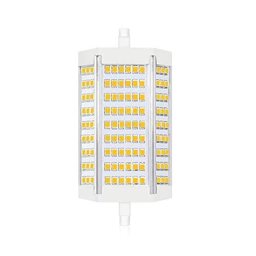 Luxvista 30W Dimmerabile R7S LED 118MM Lampadina, Equivalenti a Lampadina Alogena da 250W-300W, J118 Lampadina con 3000LM per Lampada Soffitto, Bianca Calda 2800K