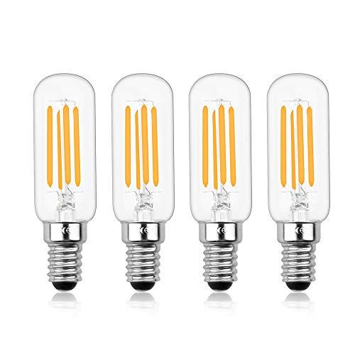Luxvista E14 Dimmerabile Lampadina Tubolare a Filamento Edison Vintage a LED, T26 4W Equivalente a 40W con 400 LM, per Cappa da Cucina (4-Unità, Luce Calda 2700K )