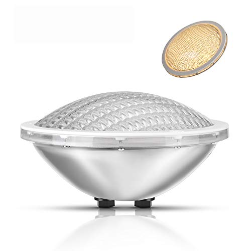 LyLmLe Luci Piscina PAR56 Fari LED per Piscine 30W Lampada Subacquea a led Illuminazione,Impermeabile IP68,12V DC/AC,3000K Bianco Caldo