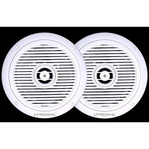 Lyndahl CS180IP Altoparlanti da soffitto a 2 Vie, Altoparlanti integrati per Bagno o Doccia Adatti alla Classe di Protezione IP44, Colore: Bianco, Paio di Altoparlanti per Ambiente Umido