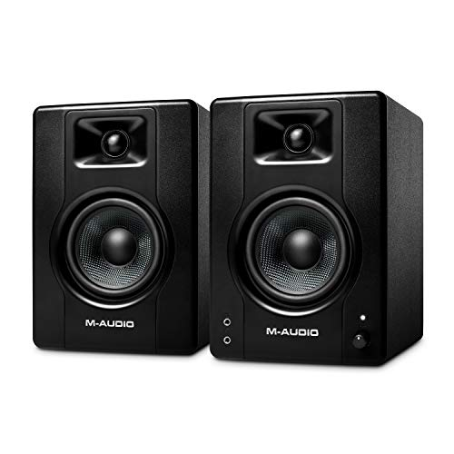M-Audio BX4 - Casse amplificate da 120 W da tavolo - Monitor da studio per gaming, produzione musicale, streaming e podcast (coppia)