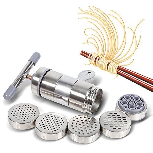Macchine per pasta a mano portatile in acciaio inox con 5 x stampi