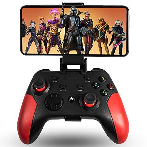 Maegoo Controller per Android/PC/PS3, Controller Android Game Mobile Wireless Bluetooth con Staffa Retrattile, 2.4G Wireless Gamepad Controller Joystick PC/PS3/ TV con Doppia Vibrazione