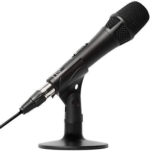 Marantz Professional M4U – Microfono USB con Scheda Audio, Cavo Microfonico e Supporto da Tavolo per Cattura Audio YouTube, Streaming, Podcast e PC Gaming