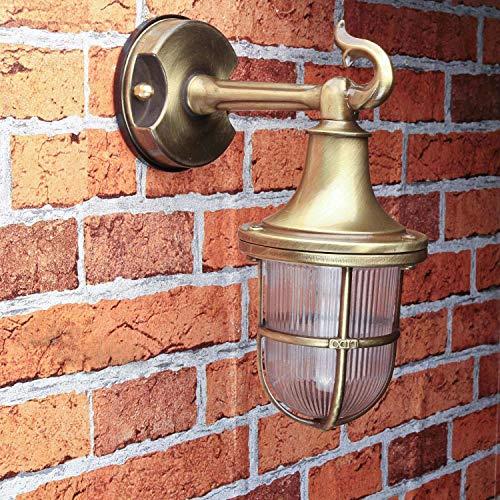 Massive Premium lampada parete in ottone antico E27 max. 18W 230V giardino lampada da esterno lampada da parete lampada applique per esterni esterno