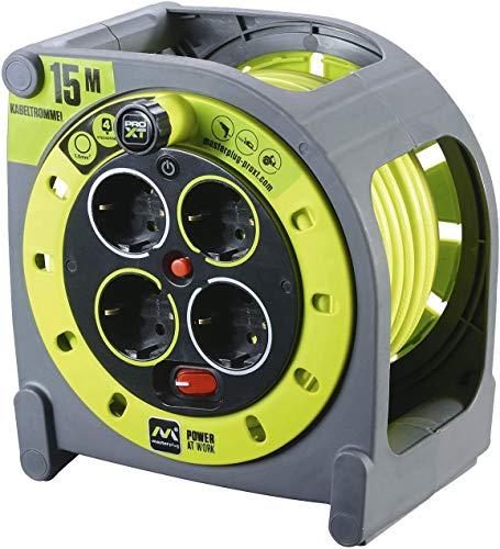 Masterplug ProXT HMG15164SL-PX Prolunga Elettrica con Avvolgicavo e Presa Multipla x4, 15 m