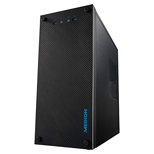 MEDION S72 CARBON E36002 Desktop PC (AMD Ryzen R3-3200G, 256 GB SDD, 8 GB di RAM, GT1030 2GB, Windows 10 Home) Nero