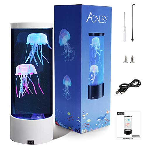 Medusa Lampada AONESY Lava Lamps Lampada cambia colore Medusa Acquario Lampada dell'umore Regalo di Natale per la camera da letto delle lampade a lava per bambini