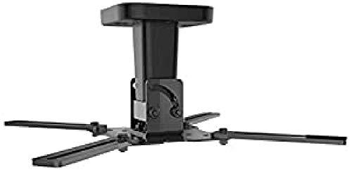 Meliconi Pro 100 Supporto Da Soffitto per Videoproiettore, Orientabile Orizzontalmente e Verticalmente, Nero