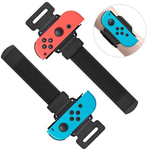 MENEEA Braccialetti per Just Dance 2021 2020 2019 per Nintendo Switch Controller Game, Comodo Elastico Regolabile Nintendo Switch Cinturini per Controller JoyCons (Nero)