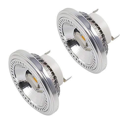 MENGS, 2 faretti a LED G53 AR111, 2x COB 15 W, ricambio per lampadine alogene da 120 W con luce bianca neutra, 3000 K, AC 85-265V