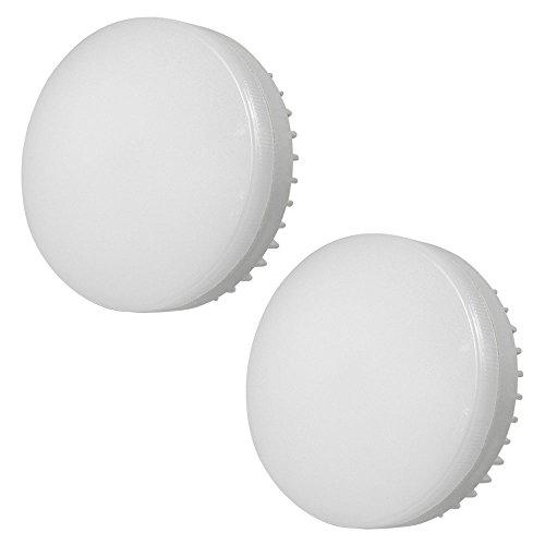 MENGS 2 pezzi GX53 12W=95W LED luce Bianco freddo 6000K 1200lm AC 85 - 265V in alluminio + PC