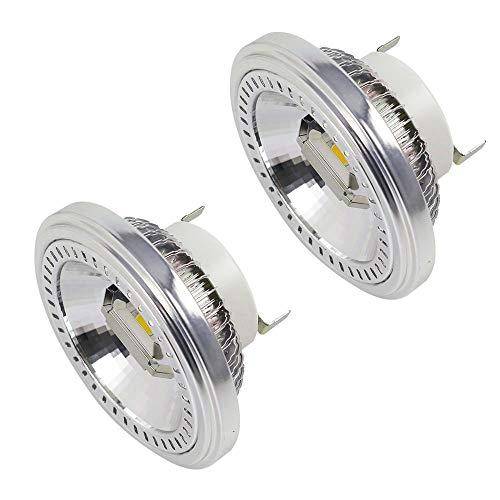 MENGS - G53 AR111 Faretto LED, 2 COB da 15 W, sostituisce lampadine alogene da 120 W, luce bianca fredda, 6000 K, AC 85-265 V