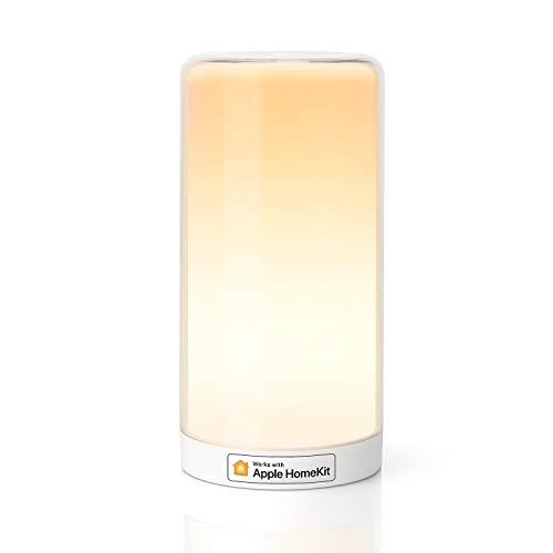 meross Smart Lampada da Comodino a LED Intelligente, Compatibile con HomeKit, Alexa, Google e SmartThings, Luce Notturna Bambini Dimmerabile, per Camera da Letto, Soggiorno, Nessun Hub Richiesto