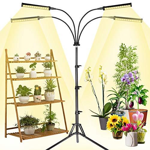 MICCYE Lampada Piante Coltivazione, Lampada per Piante 0-100% Luminosità 96W 192 LED Lampada Crescente Spettro Completo con Timer Automatico 3H/6H/12H per Vegetali Fiore