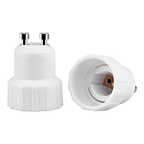 Micgeek Portalampada da 10 pezzi Gu10, adattatore per lampada da GU10 a E14, convertitore per lampadina da GU10 a E14 per lampade ad incandescenza, LED, lampade alogene a risparmio energetico
