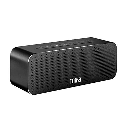 MIFA A20 Soundbox Altoparlante Bluetooth Portatile 30W, Tutto in alluminio, Tecnologia TWS e DSP Suono Stereo & Bass, Litio Ricaricabile da 4.000 mAh, Microfono Integrato, Slot per Scheda TF, AUX-IN