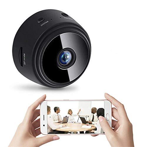 Mini Hidden Spy WiFi Telecamera,Mini Nascosta Telecamera Full HD 1080P Portatile Microcamera Mini Wifi con Visione Notturna Piccole Videocamera di Sorveglianza Senza Fili per Esterno/Interno