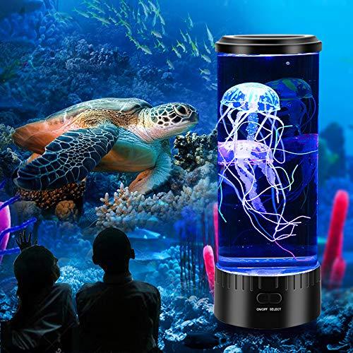 Mini medaglie, lampada per l'umore, lampada per acquario, luce notturna con 5 colori di colore, regalo per bambini