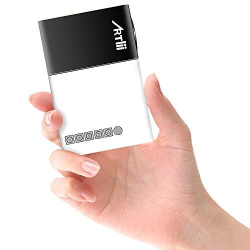 Mini Proiettore Portatile - Artlii Pocket Videoproiettore da Esterno, Perfetto per I Regali dei Bambini, Remote Learning