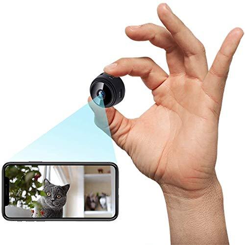 Mini Spia Telecamera Nascosta WiFi,2021Bluetooth Mini Telecamera Full HD 1080P Portatile Microcamera con Visione Notturna Piccole Videocamera di Sorveglianza Senza Fili Spy Cam per Esterno/Interno