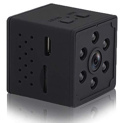 Mini Telecamera Spia Nascosta, Full HD 1080P Portatile Micro Spy Cam Sorveglianza con Visione Notturna, con Sensore di Movimento, Infrarossi, Esterno/Interno Senza WiFi Fili Piccola Microcamere