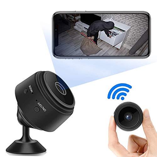 Mini Telecamera Spia Nascosta WiFi,Mini Telecamera Full HD 1080P Portatile Microcamera Mini Wifi con Visione Notturna Piccole Videocamera di Sorveglianza Senza Fili Spy Cam per Esterno/Interno