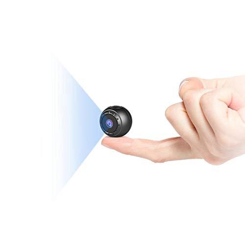 Mini Telecamera Spia Nascosta,MHDYT HD 1080P Portatile Micro Cop Spy Cam con Sensore di Movimento,Visione Notturna y Batteria,Senza Fili Piccola Video Sorveglianza Microcamera Spia Esterno/Interno