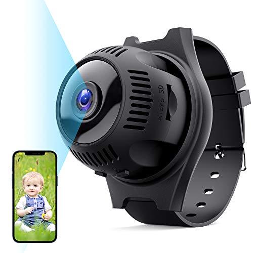 Mini Telecamera Spia, TESECU HD 1080P Telecamera Nascosta Wifi Portatile, Microcamera Spia con 160° Grandangolo Visione Notturna, Rilevamento di Movimento Videocamera Microcamere per Esterno/Interno